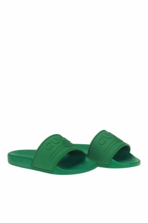 4276934414b Rubber flip-flops with a convex logo od Gucci Kids ...