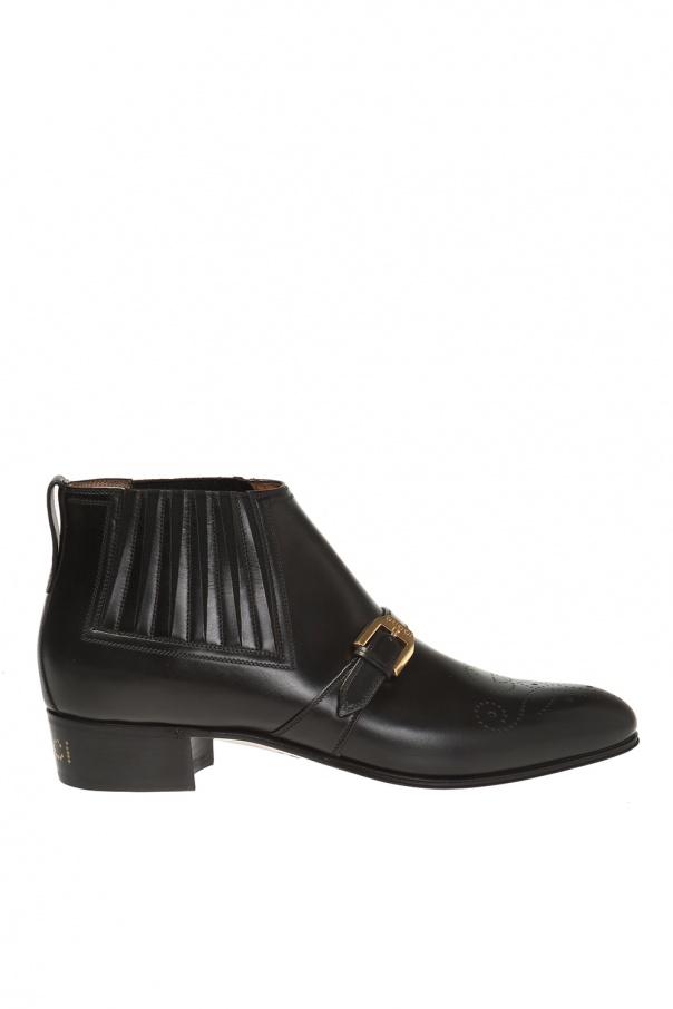 317f0d2133a Logo-printed ankle boots Gucci - Vitkac shop online