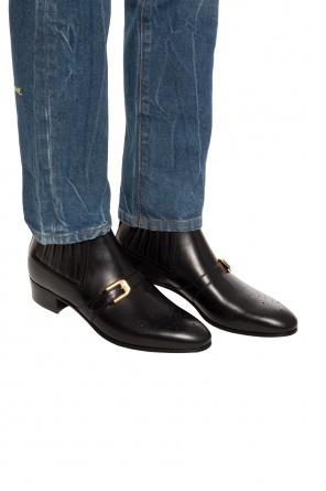 62524f3b86e Logo-printed ankle boots od Gucci ...