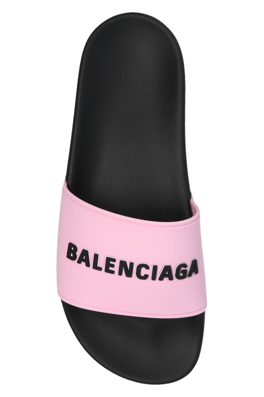 Balenciaga Klapki z logo 'Pool'