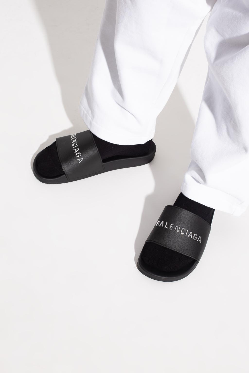 Balenciaga 'Pool' slides with logo