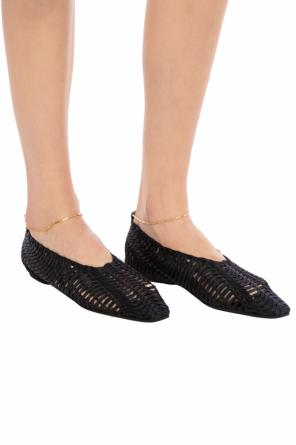 Woven ballet flats with chain od Stella McCartney