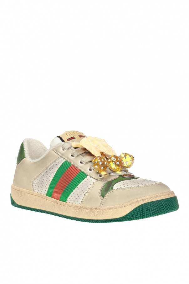 0492c2e7d41 Screener  sneakers with worn effect Gucci - Vitkac shop online