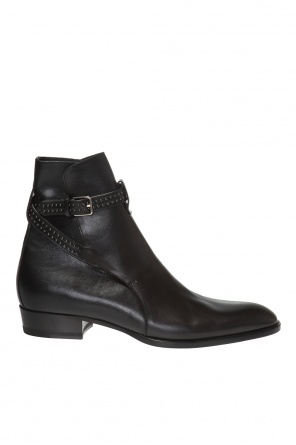 Studded strap ankle boots od Saint Laurent