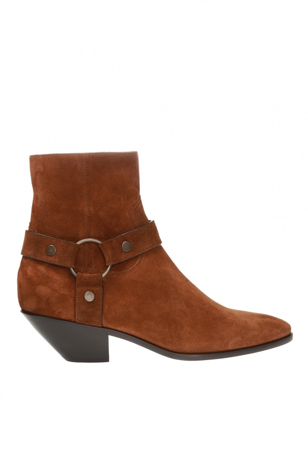 Saint Laurent 'West' suede ankle boots