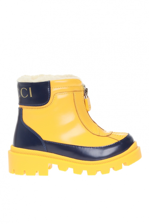 Gucci Kids Rain boots with logo