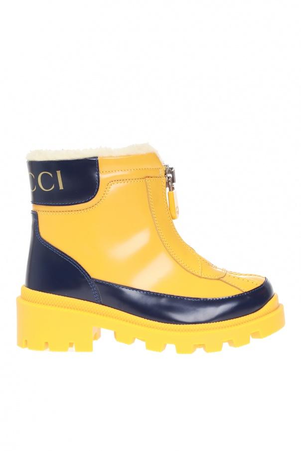Gucci Kids Rain boots with logo