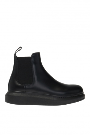 Leather ankle boots with logo od Alexander McQueen