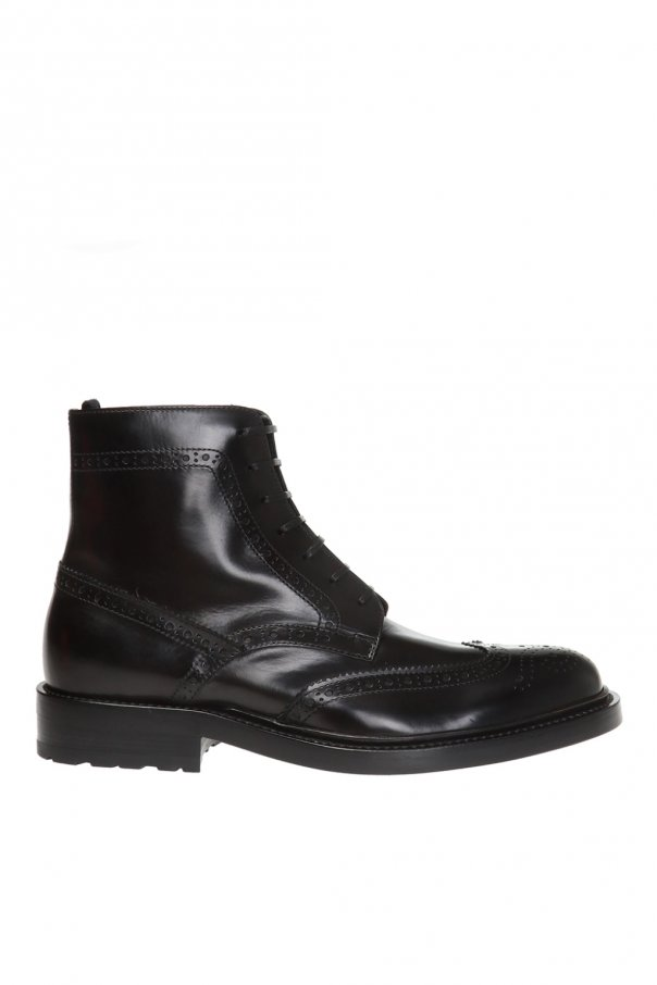 Saint Laurent 'Army' perforated ankle boots