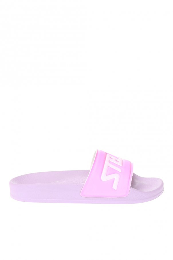 Stella McCartney Kids Logo-embossed slides