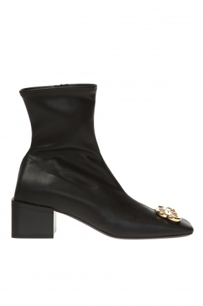 'bb double square' heeled ankle boots od Balenciaga