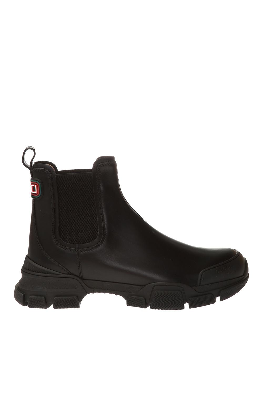 Gucci Logo Chelsea boots