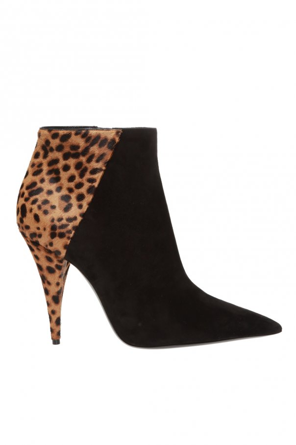Saint Laurent 'Kiki' suede ankle boots