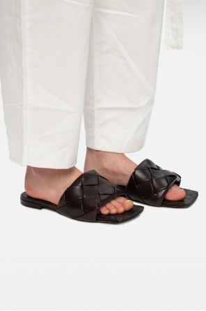 'lido' leather slides od Bottega Veneta
