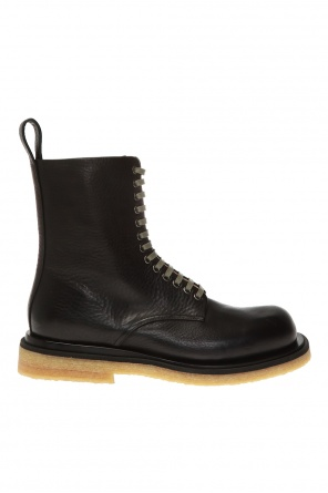 Leather ankle boots od Bottega Veneta
