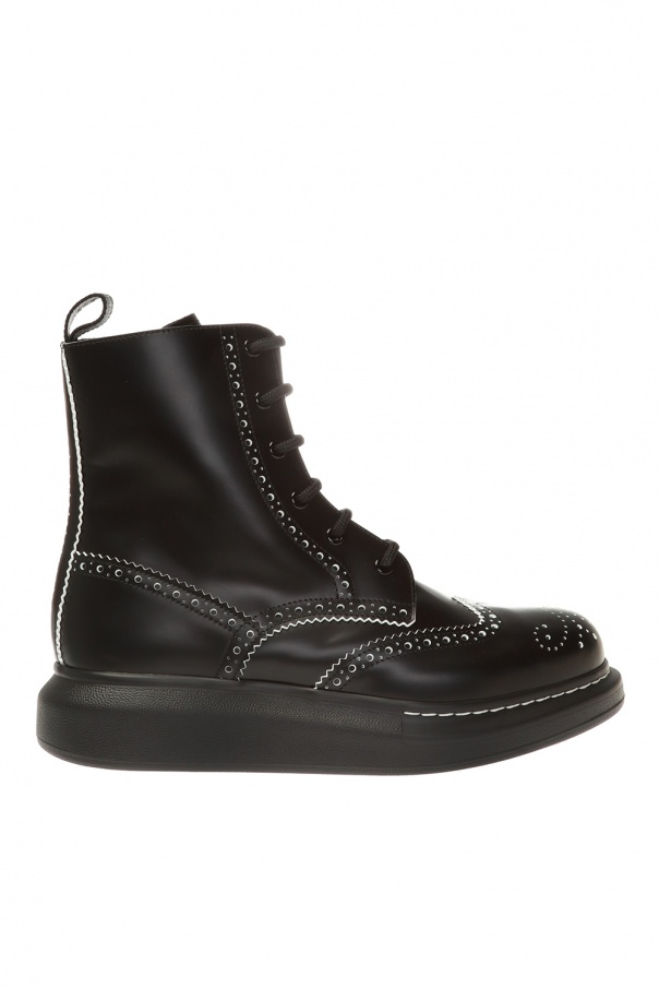 Alexander McQueen Ankle boots with perforations