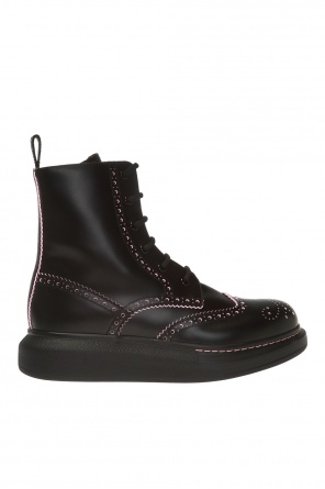 Ankle boots with perforations od Alexander McQueen