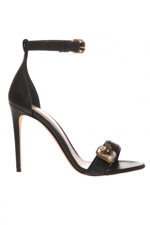 Alexander McQueen Appliqued stiletto sandals