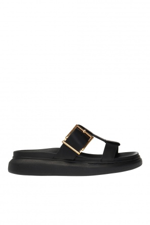 Leather slides with logo od Alexander McQueen