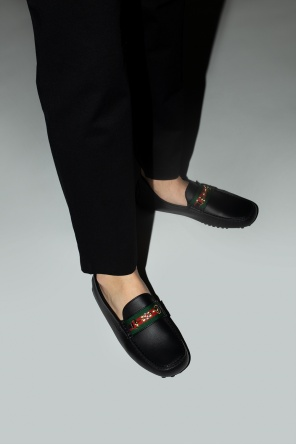Web stripe shoes od Gucci