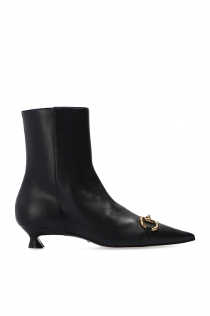 Horsebit heeled ankle boots od Gucci