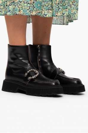 Leather ankle boots od Gucci