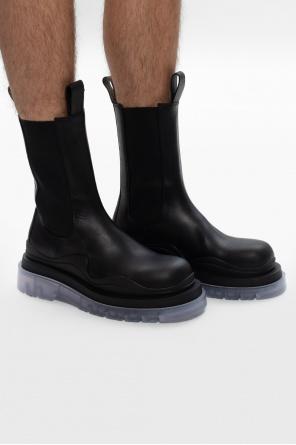 'bv tire' platform chelsea boots od Bottega Veneta