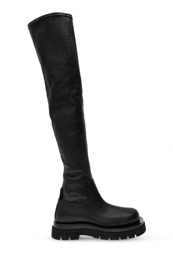 Bottega Veneta Leather platform boots