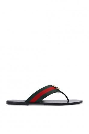 Web stripe flip-flops od Gucci