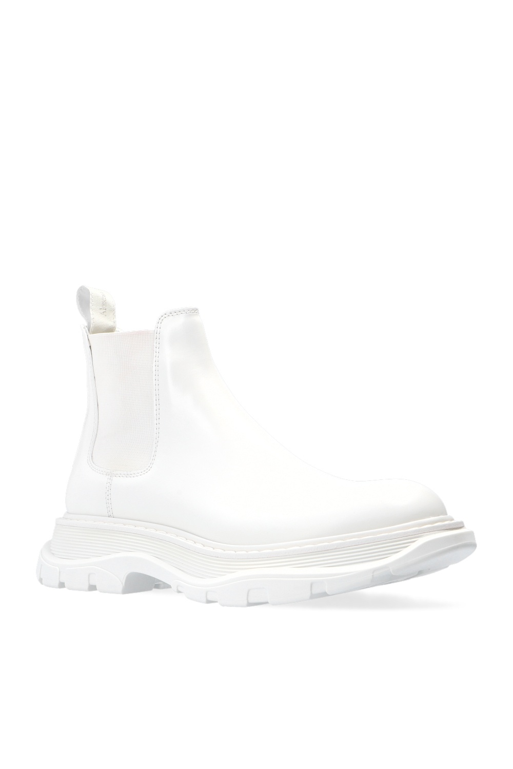 Alexander McQueen Chelsea boots on flagship sole