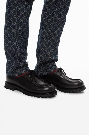 'web' stripe shoes od Gucci
