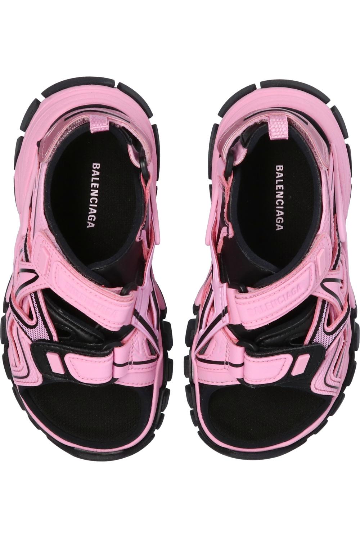 Balenciaga Kids 'Track' sandals with logo