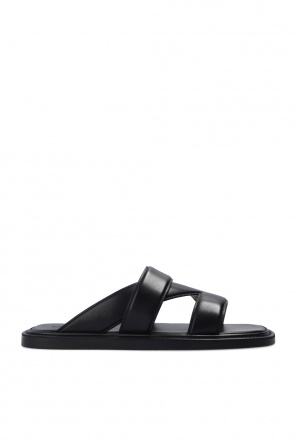 Leather slides od Bottega Veneta