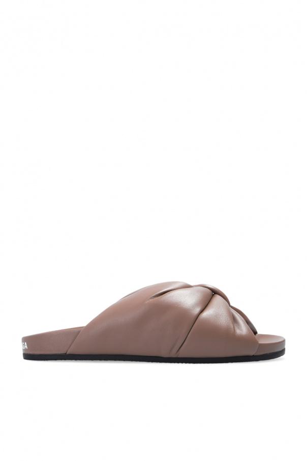 Balenciaga 'Puffy' leather slides