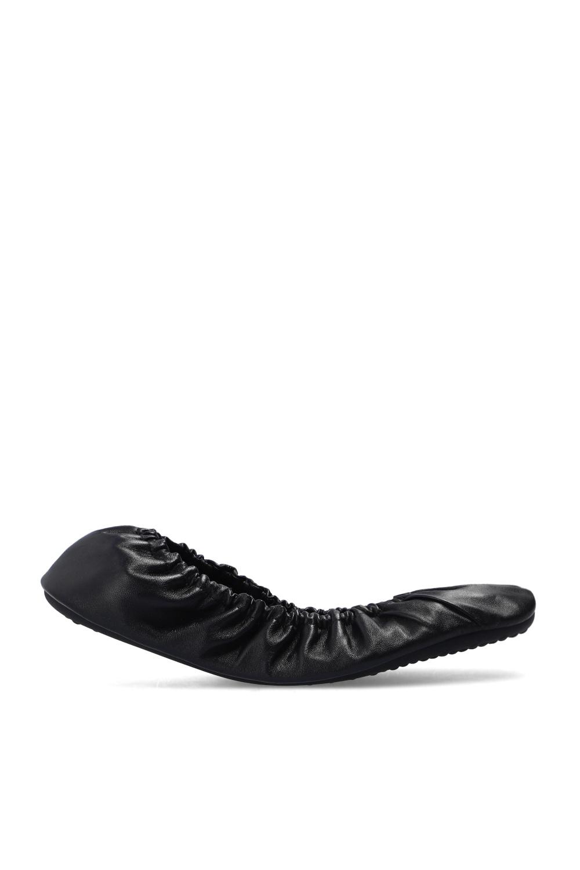 Balenciaga 'Tug' leather ballet flats