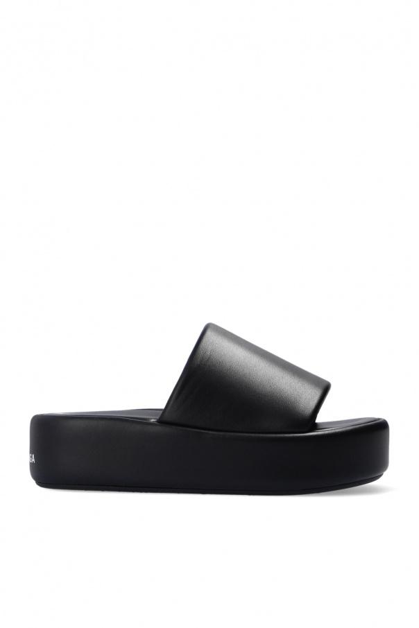 Balenciaga 'Rise' leather slides