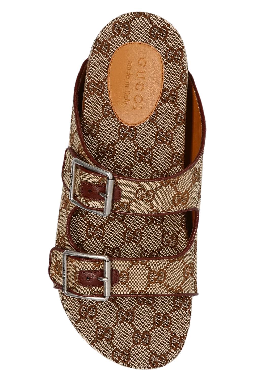 Gucci Klapki z monogramem 'GG'