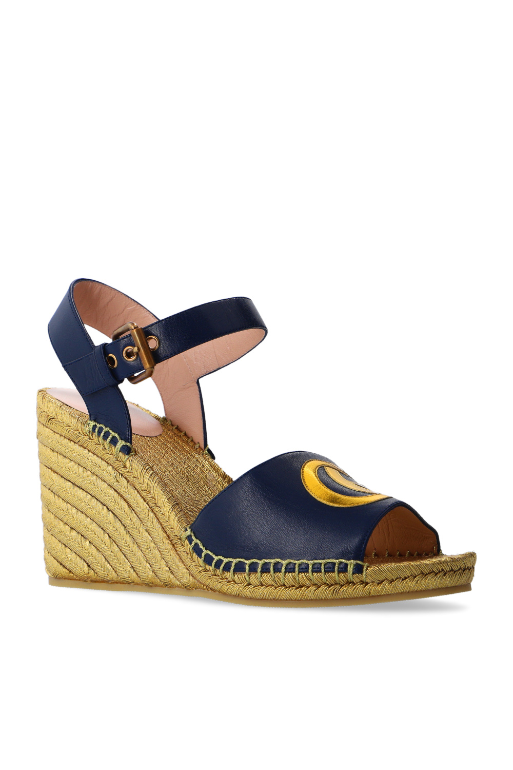 Gucci Wedge sandals with logo