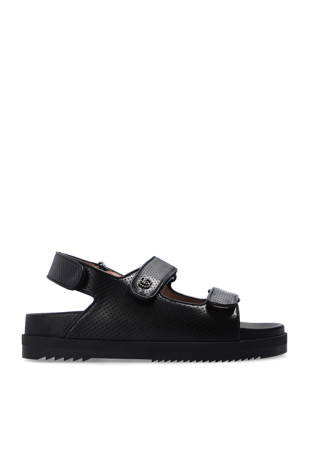 Gucci Leather sandals with logo