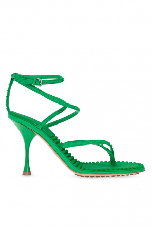 Heeled leather sandals od Bottega Veneta