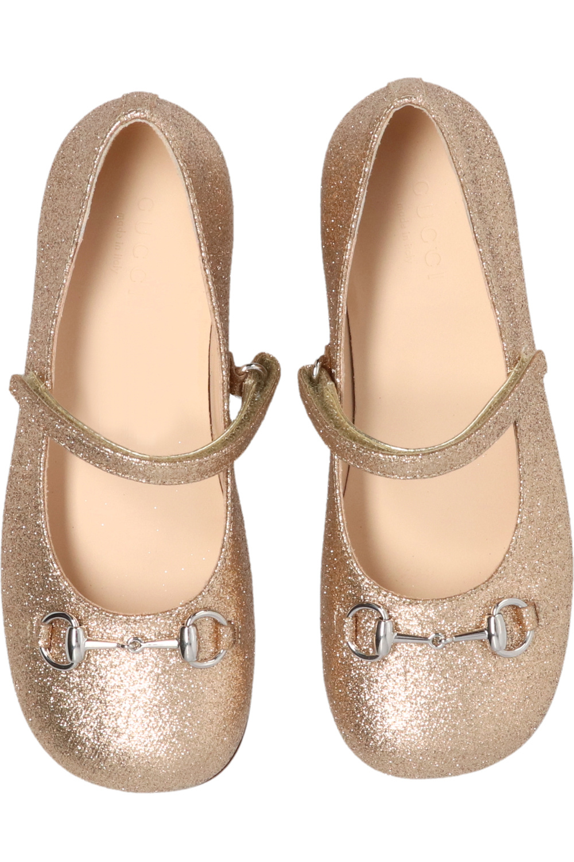 Gucci Kids Glittery ballet flats