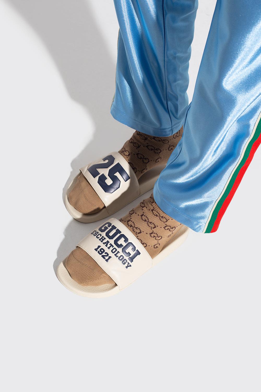 Gucci Skórzane klapki