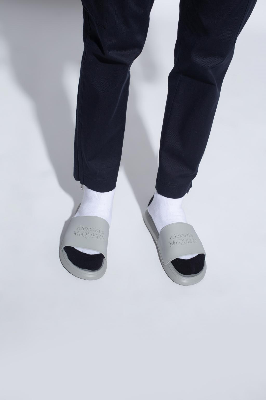 Alexander McQueen Slides with logo