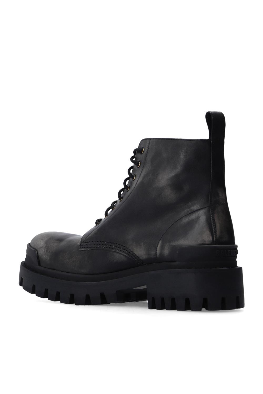 Balenciaga 'Strike' leather ankle boots