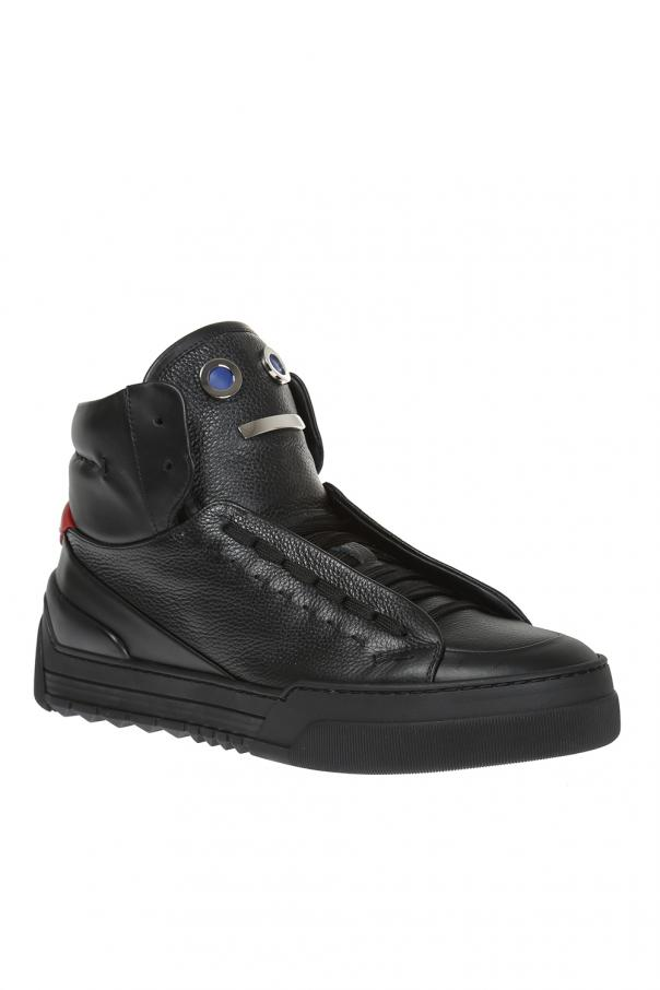 29f314e6296 Leather high-top sneakers Fendi - Vitkac shop online