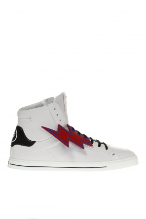 Lace-up high-top sneakers od Fendi