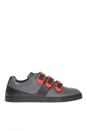 Sneakers with decorative fastening od Fendi