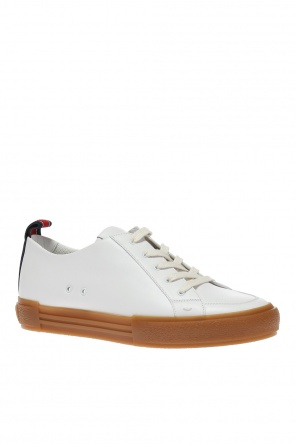 Embroidered logo sneakers od Fendi
