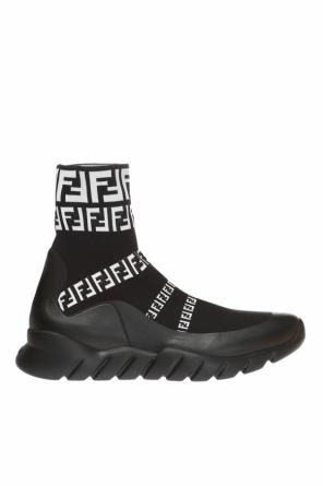 High-top sneakers with sock od Fendi