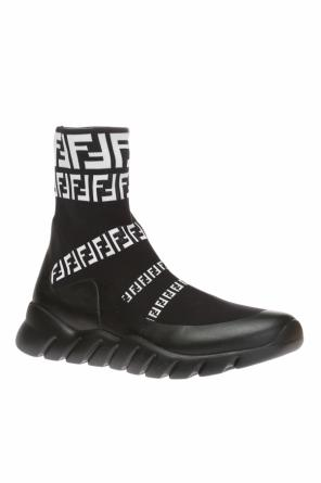 200129371103 High-top sneakers with sock od Fendi ...
